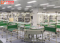 Roller Track Assembly Line Conveyor , Flexible Assembly Line For Working Tables