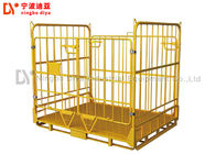 Industrial Wire Mesh Pallet Storage Cage , Foldable Metal Turnover Box