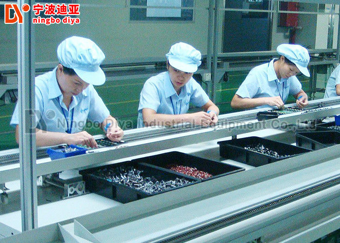 Metal Edge LED Light Assembly Line , Mobile Phone Assembly Line With PVC Belt Conveyor